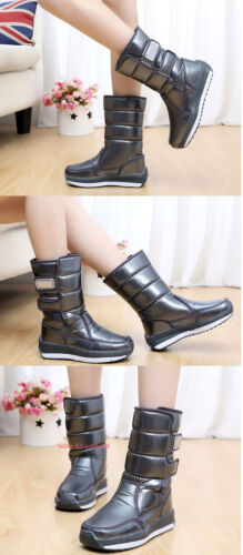 Women Winter Waterproof Thick Warm Snow Boot Fleece Lined Thermal Non-slip Shoes