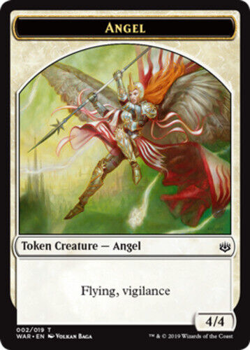 English x4 Angel Token MTG War of the Spark T M//NM