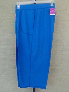 020e7df5d3c NWT JUST MY SIZE FRENCH TERRY JERSEY KNIT POCKET CAPRIS HEATHER BLUE ...