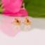 Indexbild 3 - 14 Karat Gold Rosa Turmalin Ohrringe Naturedelstein Nieten Weihnachtsgeschenke