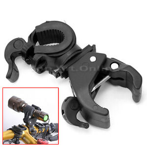 Bicycle LED Light Flashlight Torch Clip Mount Clamp Stand