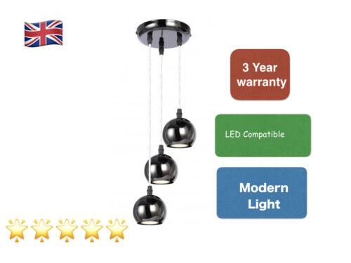 Modern Black Chrome Droplet Round Eyeball 3-way HOMOLOGUE Light DEL g10 14260