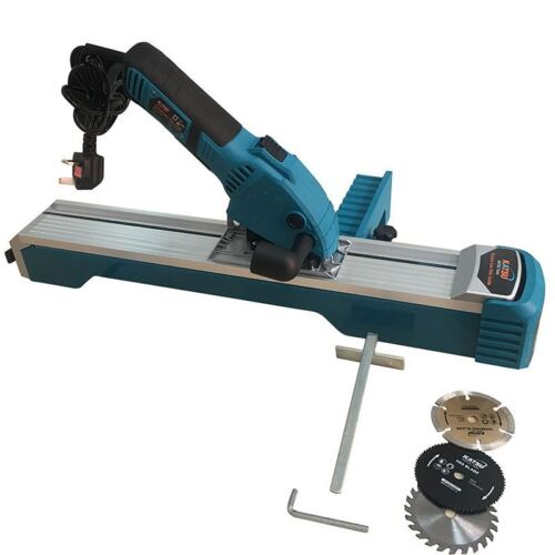 101788 KATSU Compact Plunge Circular Saw With Guide Track 600W blades Free P/&P