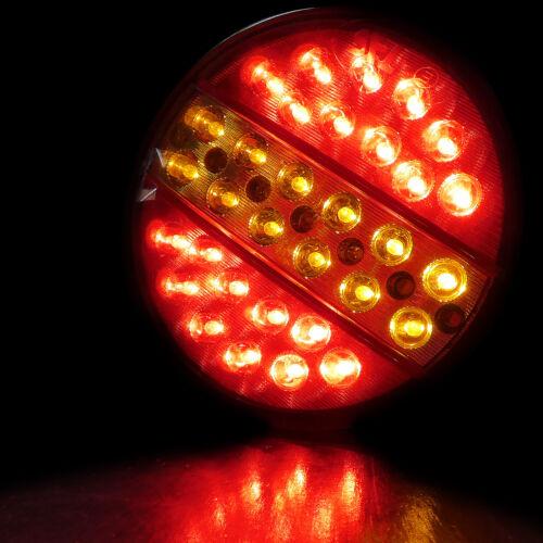 6 PCS 24 VOLT LED TAIL LIGHTS HAMBURGER REAR LAMPS TRUCK TRAILER SCANIA VOLVO