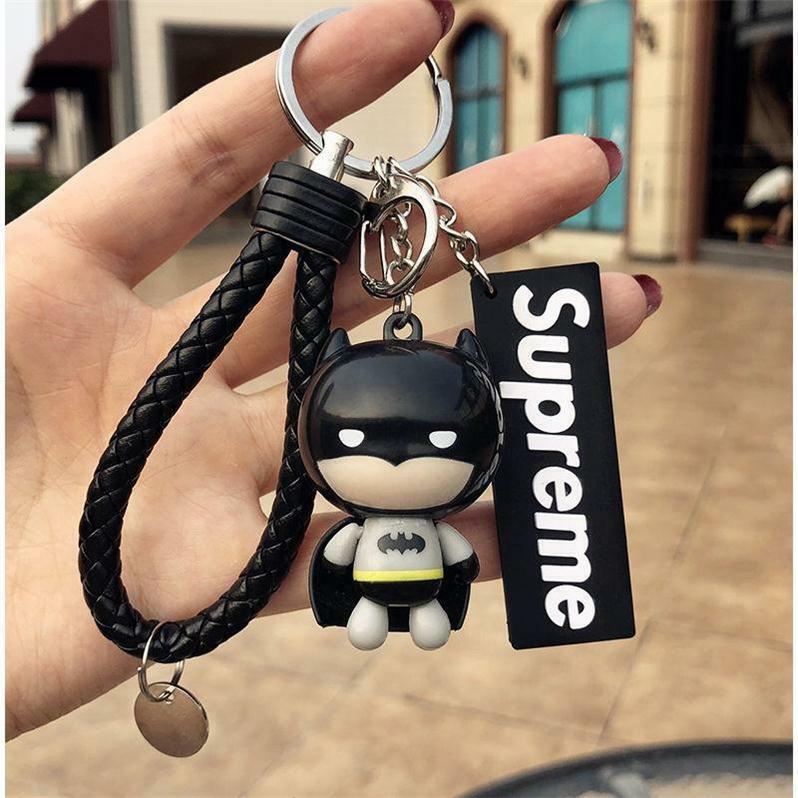 3in1 Qualité Super Hero Batman + Sup + Bracelet Bat Keychain Pendentif Clé Chaîne Cadeau-celet Bat Keychain Pendant Key Chain Gift