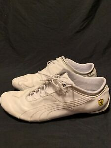 Image is loading Puma-Ferrari-Levitation-GT-Racing-Shoes-White-Leather- fd8777755