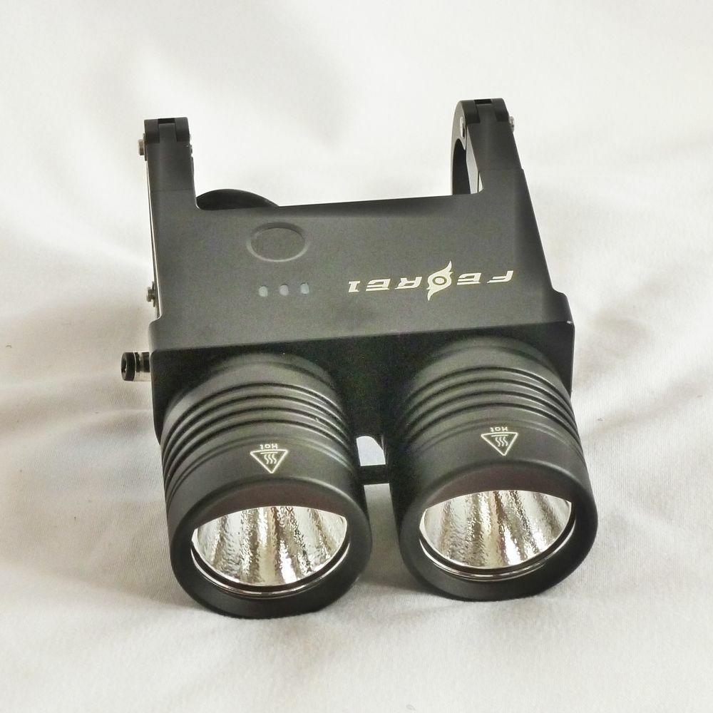 Ferei-negro bl200 lámpara ultrabrillante Bicicletas Ciclismo Linterna & Torch dos Cree Xm-l