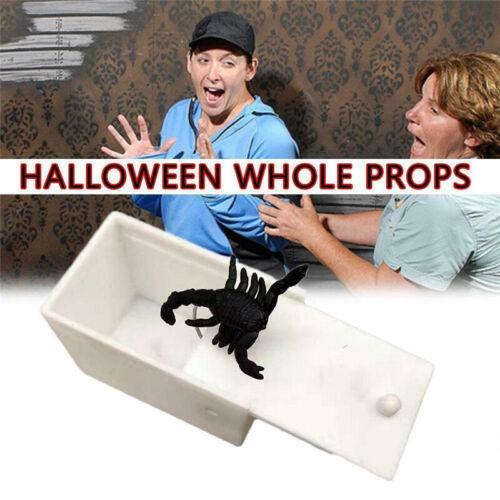 Wooden Prank Spider Scare Box Hidden in Case Trick Play Joke Scarebox Gag Toy `