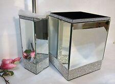 BELLA LUX Crystal Mirror Rhinestone WASTEBASKET & TOILET BRUSH HOLDER SET NEW #3