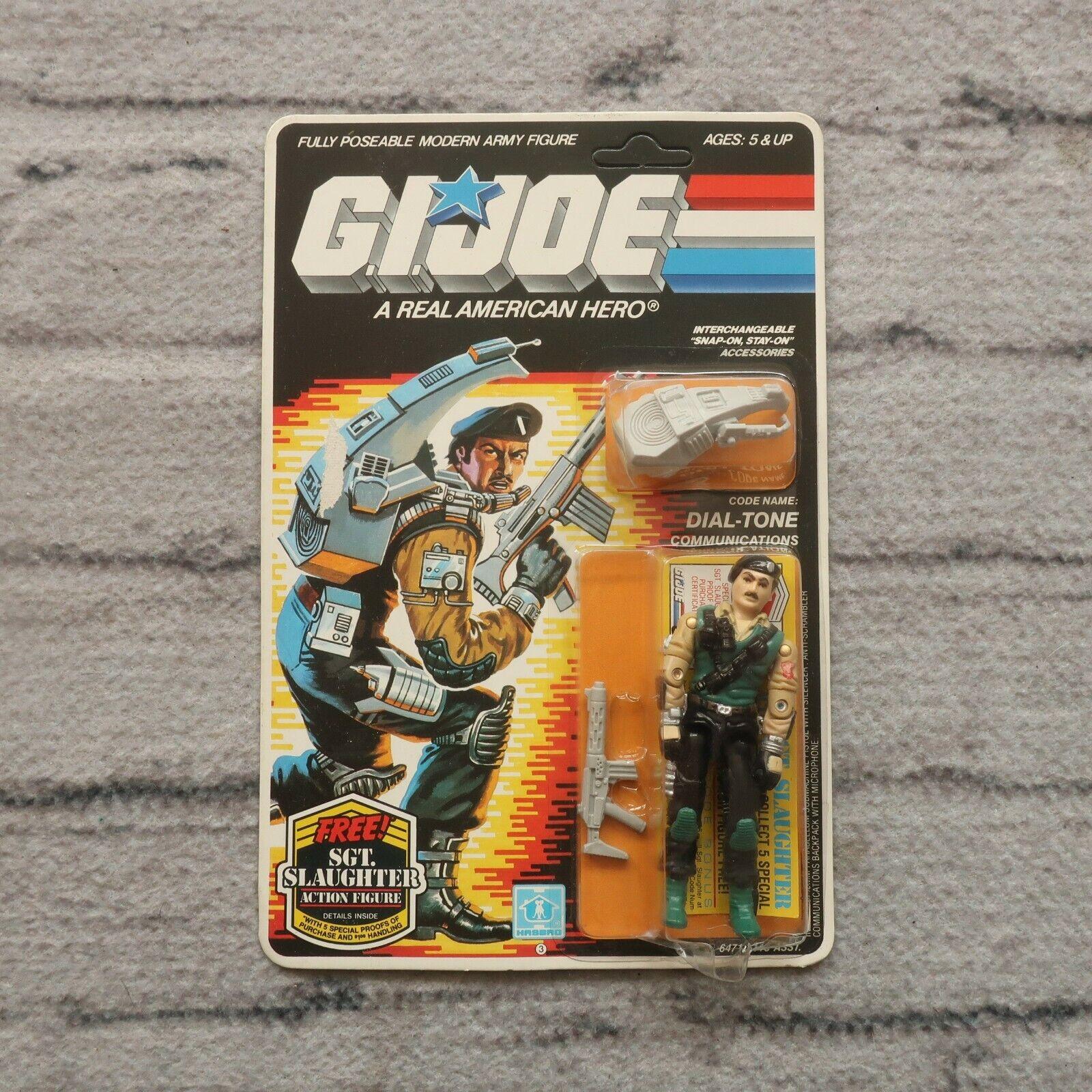 New Vintage GI Joe Dial Tone Sealed On Card 1983 1985 MOC Hasbro