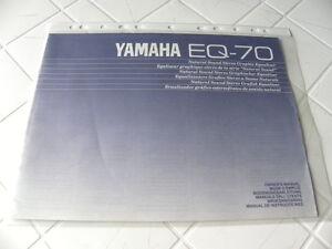 Yamaha-EQ-70-De-propietario-Manual-Operating-Instrucciones-instrucciones-New