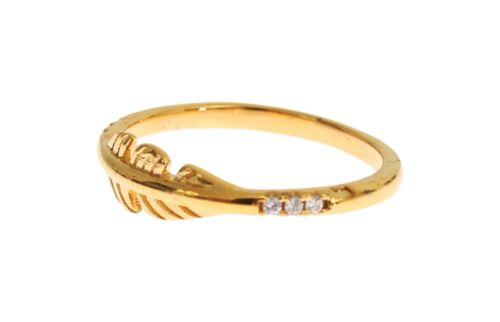 Neuf avec étiquettes $120 NIALAYA anneau authentique pour femme claire CZ Or Argent 925 S US7//EU55