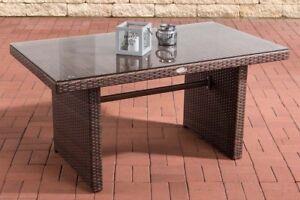 Esstisch 137 Cm Gartentisch Terrassentisch Tisch Polyrattan Farbe