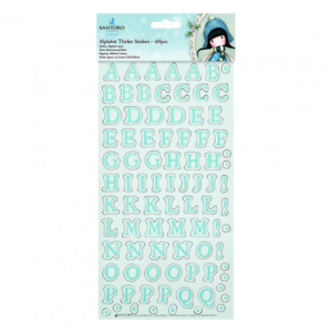 Christmas Alphabet Thicker Stickers Santoro Christmas Collection 168pcs
