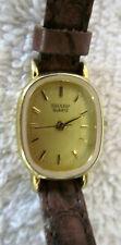 Sharp Quartz Women's Wristwatch w Genuine Leather Band New Battery