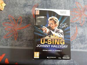 Johnny Hallyday U-Sing Jeu Nintendo Wii Jeu & Micro