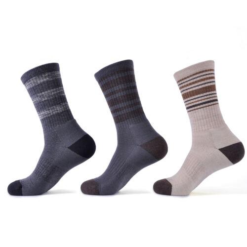 SOLAX 72/% Merino Wool men Hiking Running Outdoor Crew Trainer Sport Socks 3 Pack