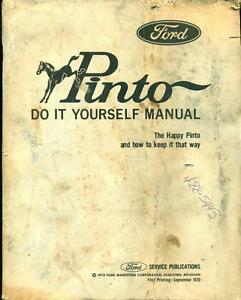 1971 ford pinto do it yourself shop manual factory service manual image is loading 1971 ford pinto do it yourself shop manual solutioingenieria Choice Image
