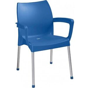 Image Is Loading Lightweight Resin Outdoor Chair With Aluminum Leg Indoor