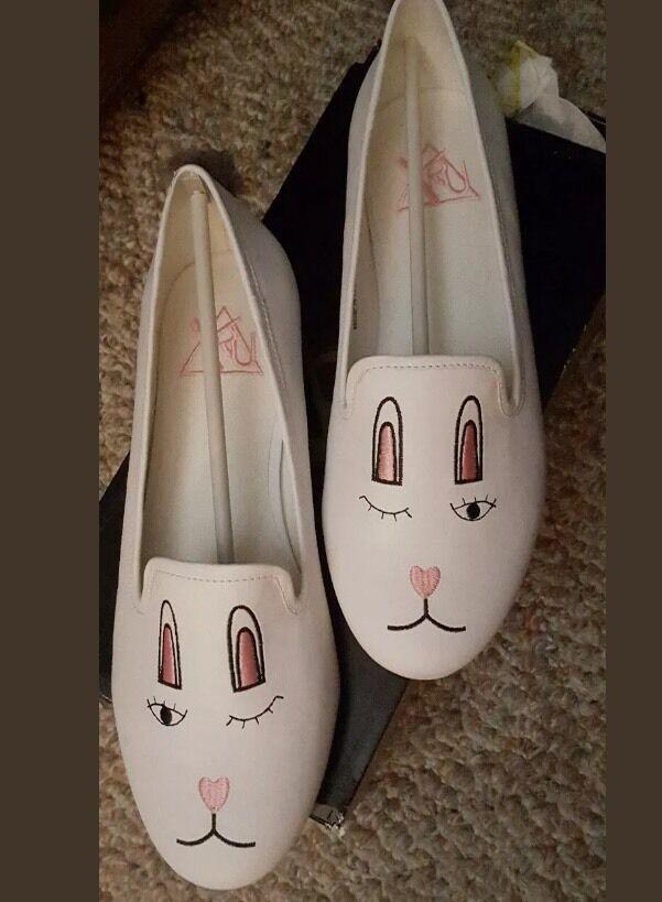 YRU YRU YRU fastuoso Bunny pisos Talla 8 dollskill ModCloth  ¡No dudes! ¡Compra ahora!