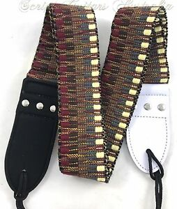 034-Earth-Tribal-034-Knitted-Leather-Ends-Electric-Acoustic-Bass-Guitar-strap