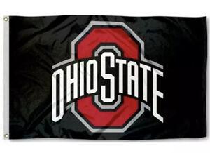 OHIO-STATE-BUCKEYES-FLAG-3-039-X5-039-BLACK-OSU-OHIO-STATE-UNIVERSITY-FREE-SHIPPING