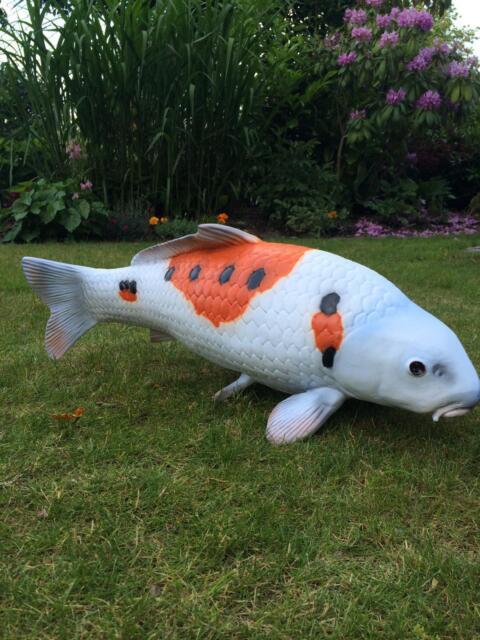 Koikarpfen Teich Karpfen Japanischer Fisch Dekofigur Teichfigur Dekokarpfen Neu