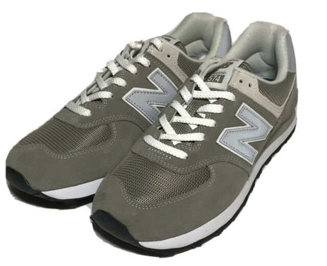 NEW BALANCE 574 MEN'S SHOES GREY/WHITE ML574-EGG Size Mens 10 D