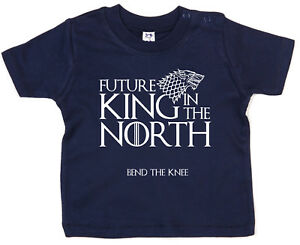 Baby-Game-of-Thrones-T-Shirt-034-Future-King-in-the-North-034-Funny-GOT-Tee-Gift