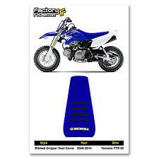 2006-2016 YAMAHA TTR 50 Blue/Black RIBBED SEAT COVER BY Enjoy MFG