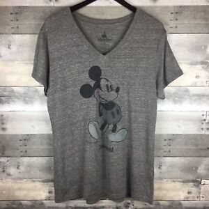 37a07b200cc Mickey Mouse Disney Parks Exclusive Women s V Neck T Shirt RARE Size ...