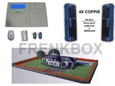 Allarme antifurto WIRELESS GSM 868Mhz con barriera perimetrale anti-intrusione
