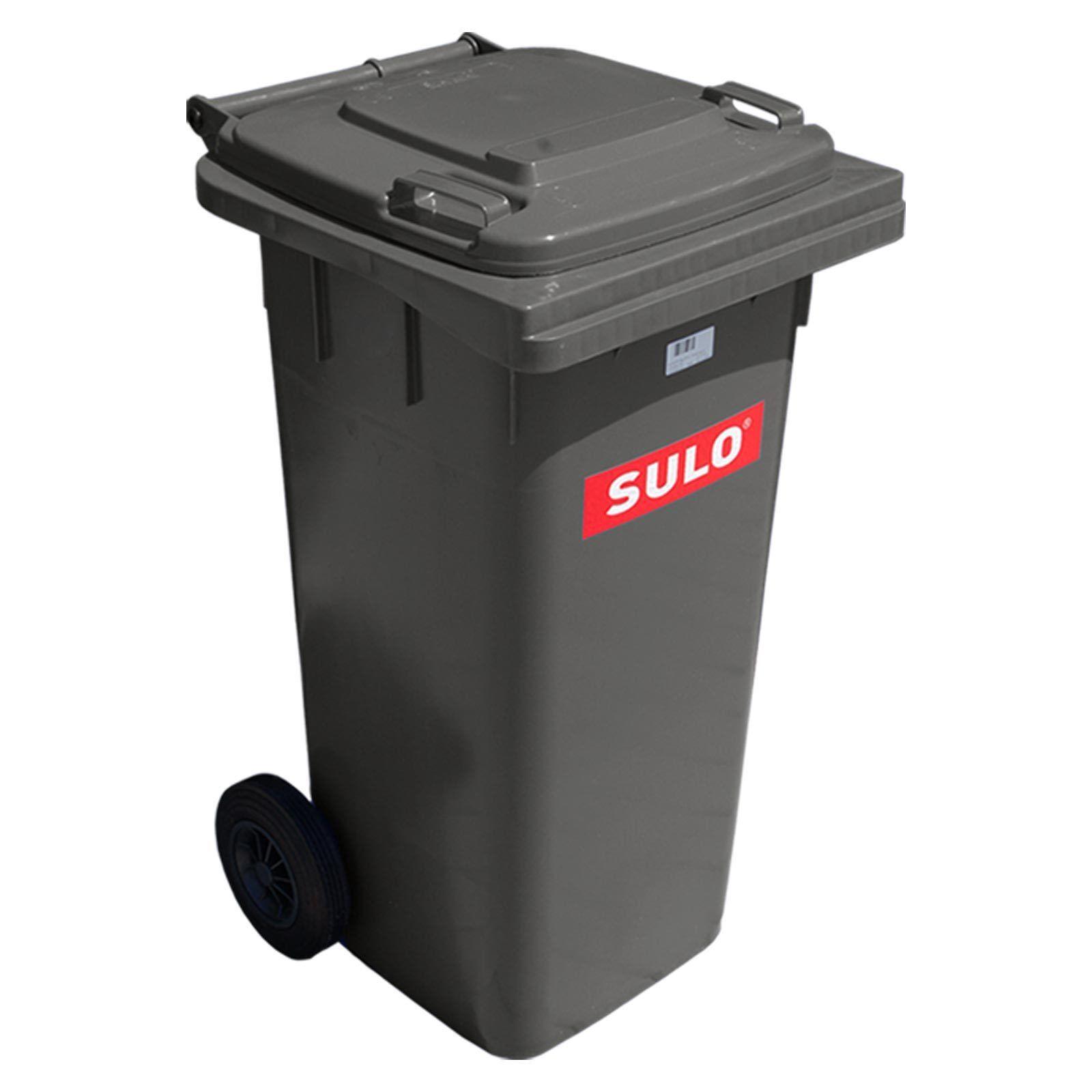 1 Stück SULO Abfallbehälter Mülleimer Mülltonne Grau 120 Liter Aschentonne Kübel