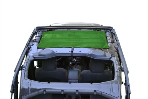 Green Front Seat Solar Screen Teddy Top for Jeep Wrangler JL 2018 Steinjager