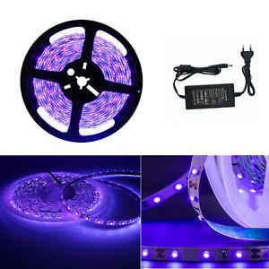 1-5M LED UV Lichtkette 395-405nm 5050 SMD Strip Streifen Schwarzlicht 5V 12V 24