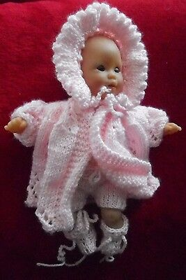 """Doll Clothes Pink Matinee set Vintage Style fit 12"""" Berenguer, Corolle Premie"""