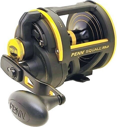 Penn Squall SQL50LD Saltwater Lever Lever Saltwater Drag Big Game Fishing Reel, NEW e81b80