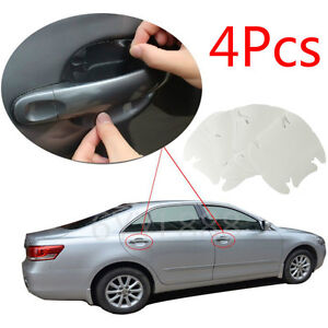 Details About Invisible Clear Car Door Handle Paint Scratch Protector Guard Film Sheet 4pcs