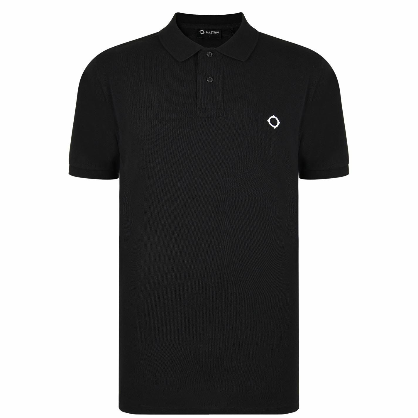 Mens Ma Strum Icon Polo Shirt Slim Fit Cotton New