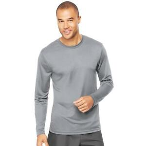 Hanes 482L Cool Dri Long Sleeve Performance T-shirt M Graphite