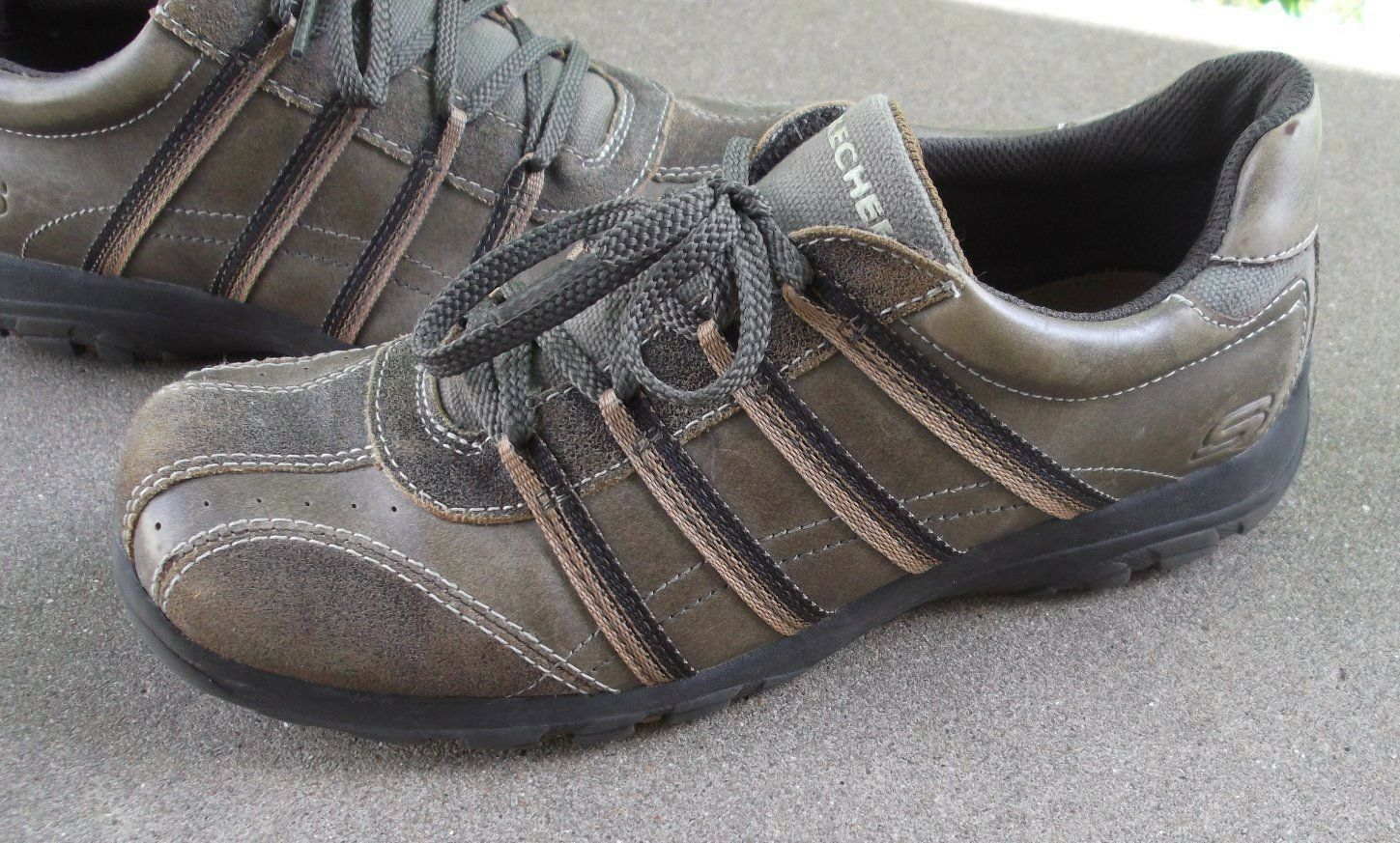 POPULAR Mens size SKECHERS Relax casual shoes size Mens US 6 M leather oxfords FREESHIPPIN 3bd171