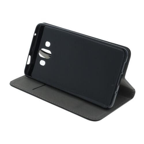 Samsung Galaxy a30s skin Book piel sintética case protección forma de libro Cover negro