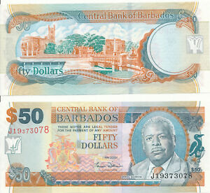 Barbados-50-dollars-2007-UNC-Pick-70a