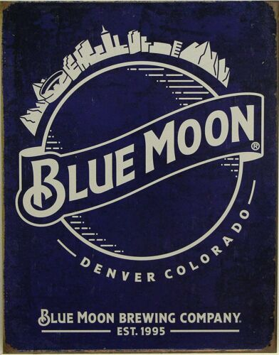 Blue Moon Beer Vintage Retro Tin Metal Sign 13 x 16in