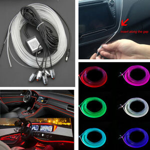 5 in 1 car styling rgb led strip light interior kit ambient lamp image is loading 5 in 1 car styling rgb led strip sciox Images
