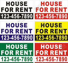 36x60 Or 28x46 Custom House For Rent Banner Sign With Your Phone Number