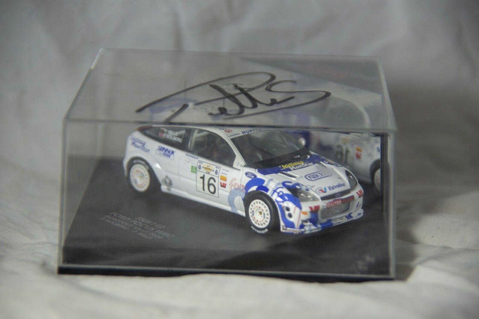 Skid SKM143 1:43 Ford Focus WRC Acropolis Rally 2000 Petter Solberg Philip Mills