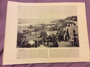 Antique-Book-Print-Cleethorpes-OR-Whitby-UK-c-1895