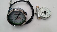 SMITHS SPEEDOMETER 120M WITH CABLE AND DRIVE  ROYAL ENFIELD BSA  REPLICA WHITE.