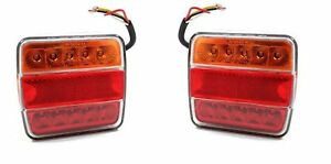 2 Stück Anhänger Rückleuchte LED Rücklicht Trailer 14 LED Beleuchtung LKW PKW